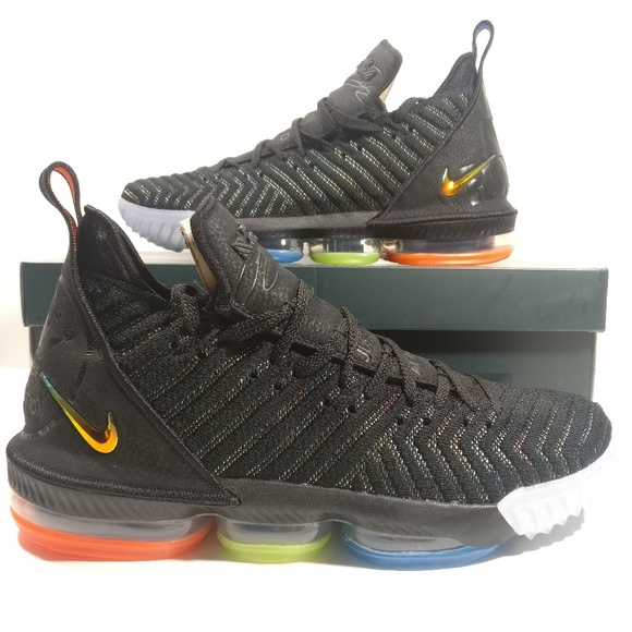 best cheap 7a5d2 be2fa Nike Lebron 16 I Promise Black Metallic Shoes NWT